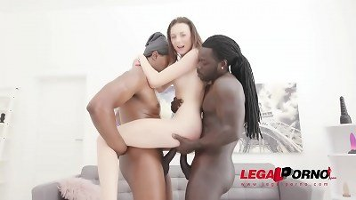 Isabella De Laa assfucked by 2 big black cock in steamy 3 way with ballsack deep double penetration and gapefarts SZ2476