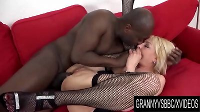 grandmother Vs big black cock - Adriana love multiracial sex completes with an assfuck creampie